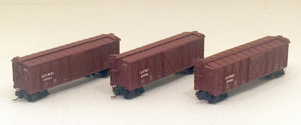 ATSF Sk-2, -3 and -5 Stock Cars (model)