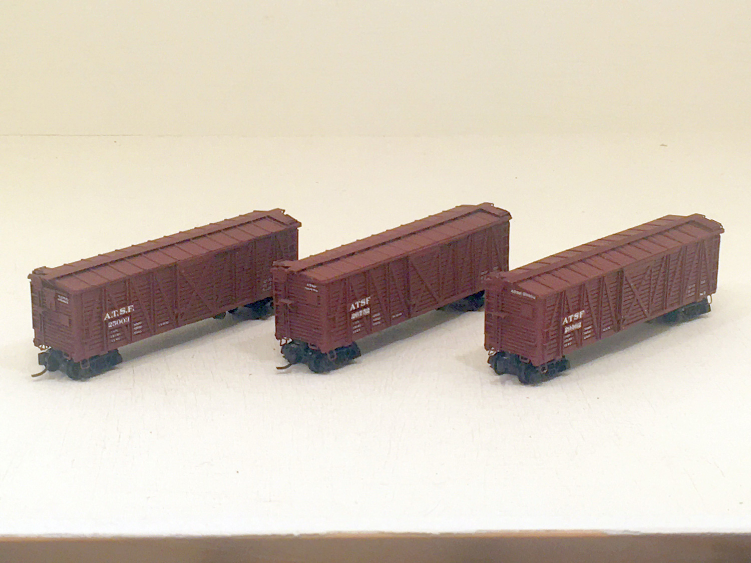 ATSF Sk-2, -3 and -5 Stock Cars (model)