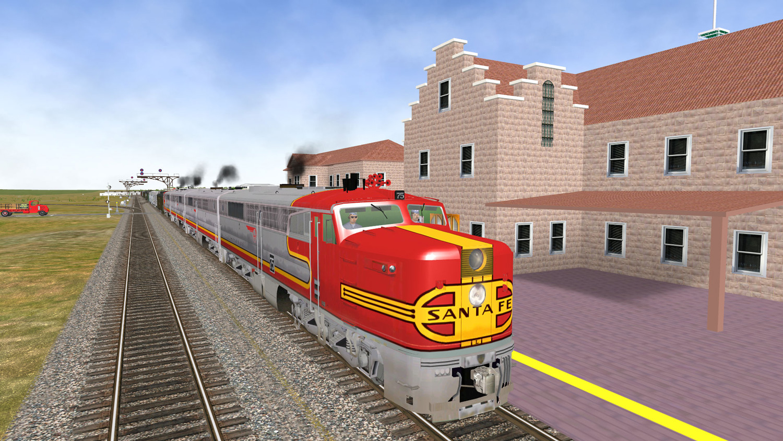 ATSF PA #75 (3DTrains rendering)