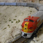 Super Chief near Doras, CA (model)